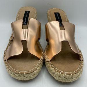 Steven Eryk Rose Gold Wedge Sandals